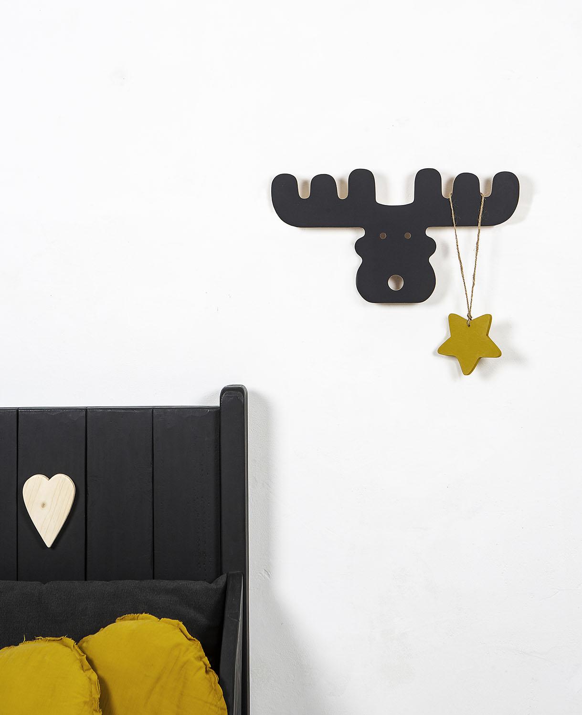 porte manteaux lan noir la cabane de bois. Black Bedroom Furniture Sets. Home Design Ideas