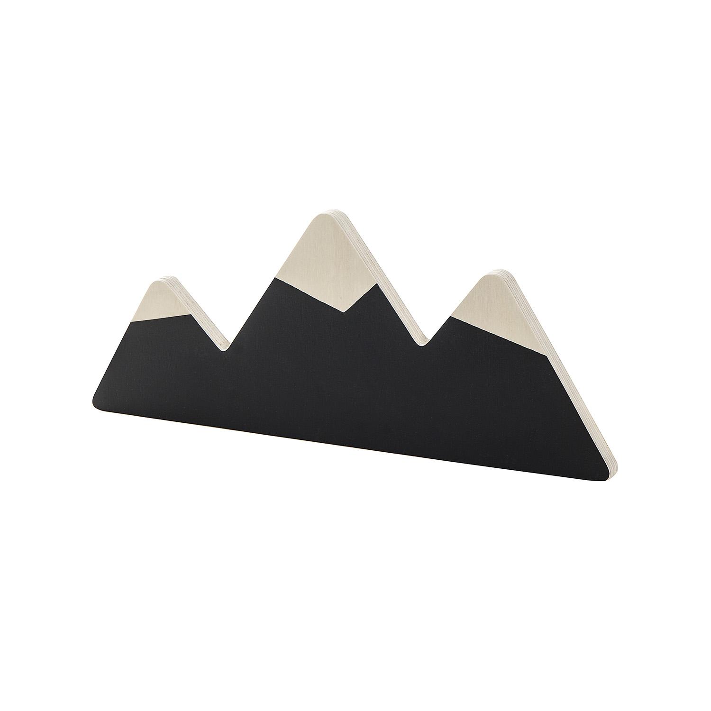 Porte manteaux montagne noir et or la cabane de bois - Porte cabane bois ...